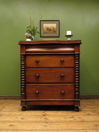 Antique Scottish Style Mahogany Chest of Drawers, Country House Chest (1 of 19)