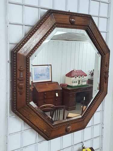 Octagonal Oak Mirror (1 of 3)