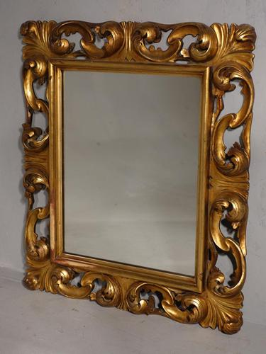 Small Late 19th Century Florentine Giltwood Mirror (1 of 4)