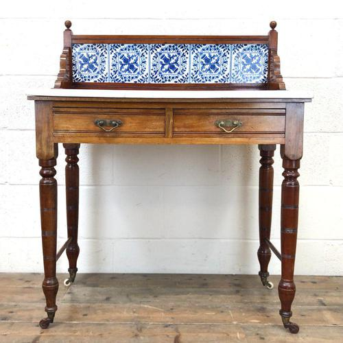 Antique Washstand with Tiled Back (1 of 10)