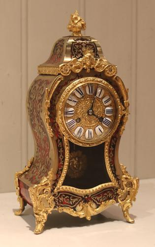 Small French Tortoiseshell and Brass inlay Mantel Clock (1 of 12)