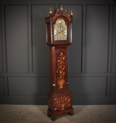 18th Century Dutch Marquetry Longcase Clock (1 of 16)