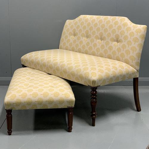 Regency window seat and matching stool (1 of 9)