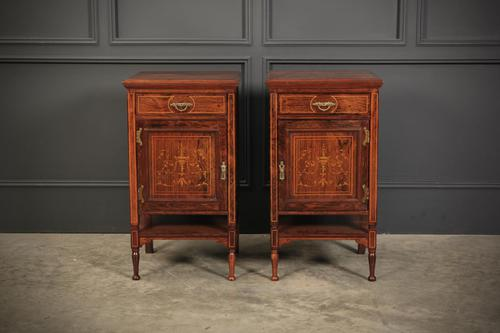 Marquetry Inlaid Rosewood Bedside Cabinets (1 of 13)