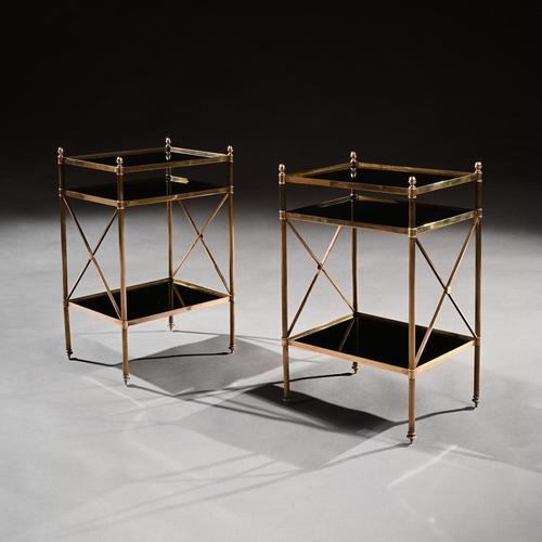 Pair of Maison Bagues Brass & Glass Etageres Louis XVI Style (1 of 5)
