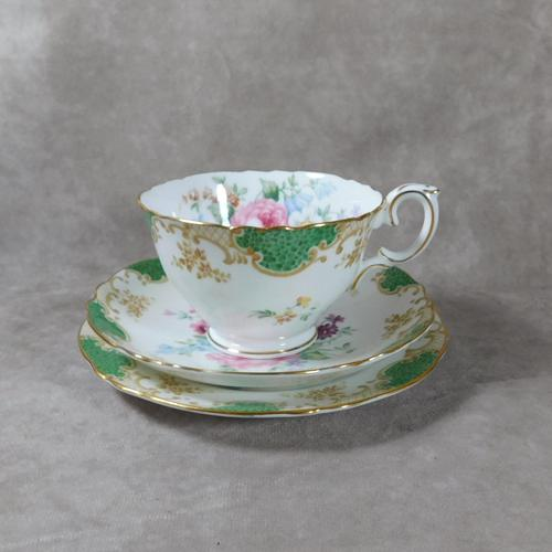 Crown Staffordshire, Fine Bone China Trio, Pattern No F15971 (1 of 9)