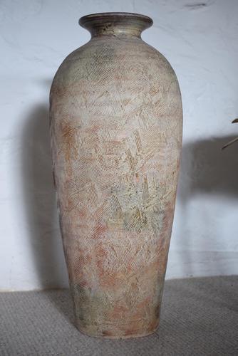 Tall Mediterranean Earthenware Floor Vase (1 of 11)
