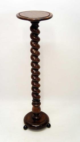 Early 20th Century Oak Torchiere, Plant Stand (1 of 12)