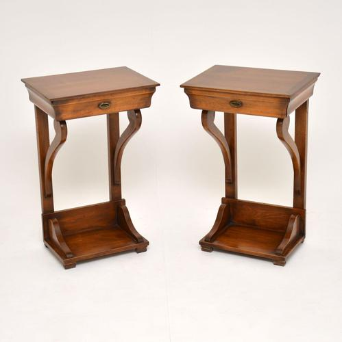 Pair of Antique Empire Style Fruitwood Side Tables (1 of 8)