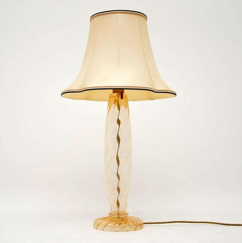 Italian Hand Blown Murano Glass Lamp by John Hutton for Donghia (1 of 8)