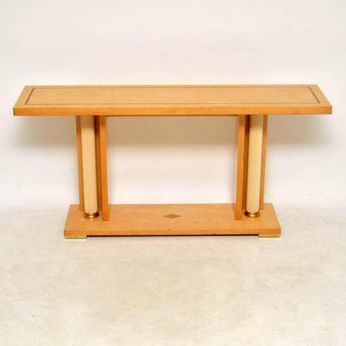 1970's Vintage Italian Maple Console Table (1 of 11)