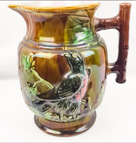 19th Century Majolica Bird Jug (1 of 5)