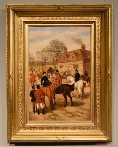 "Oil Painting by Edward Benjamin Herberte ""The Meet at Stonebridge"" (1 of 6)"