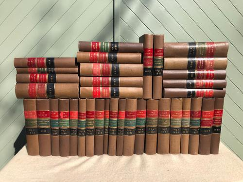30 Antique Leather Bound Law Book 1930's (1 of 6)