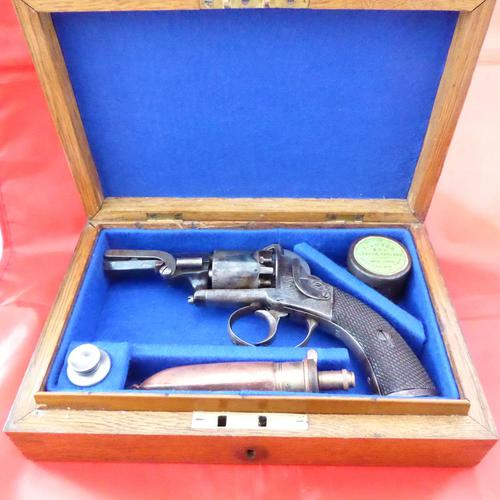 Webley Percussion Pistol Cased With Accessories (1 of 5)