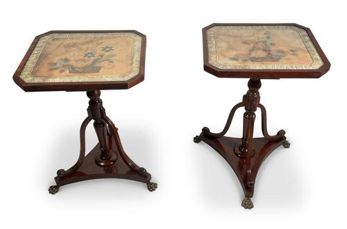 Pair of Mahogany Side Tables (1 of 7)