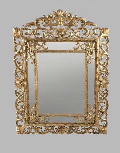 Large 19th Century Carved Giltwood Marginal Overmantle Mirror (1 of 16)