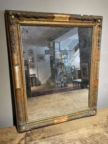 Small Antique Gilt Mirror (1 of 6)