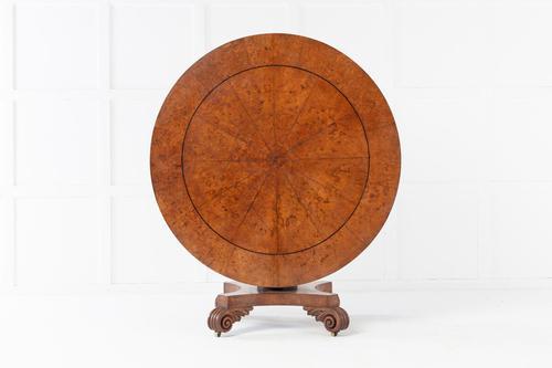19th Century English Regency Burr Oak Tilt Top Table (1 of 6)