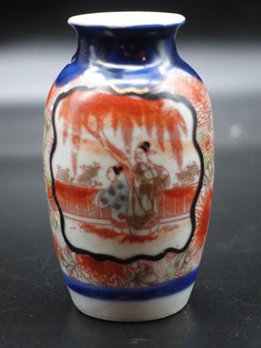 Small Early 20th Century Miniature Imari Vase (1 of 1)