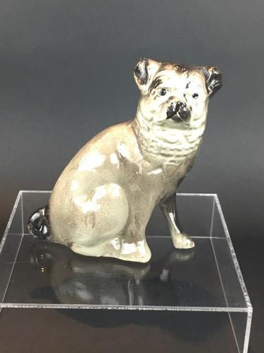 Charming Scottish Bridgeness Pottery, Bo'ness, Pug Dog c.1925 (1 of 11)