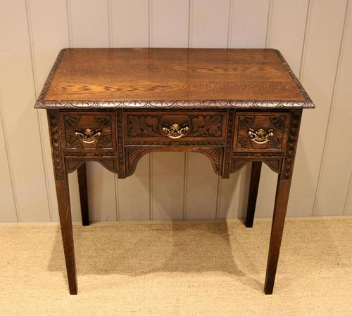 Early 19th Century Carved Oak Lowboy (1 of 11)