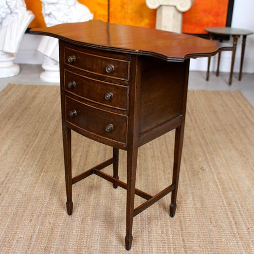 Chest of Drawers Mahogany Bowfront Drop Leaf 19th Century Petite (1 of 11)