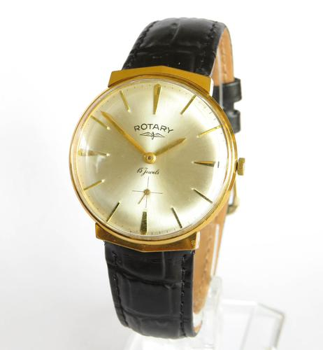 Gents 1960s Rotary Wrist Watch with Faceted Lugs (1 of 5)