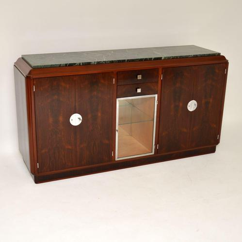 1920's French Art Deco Rosewood & Marble Sideboard (1 of 13)
