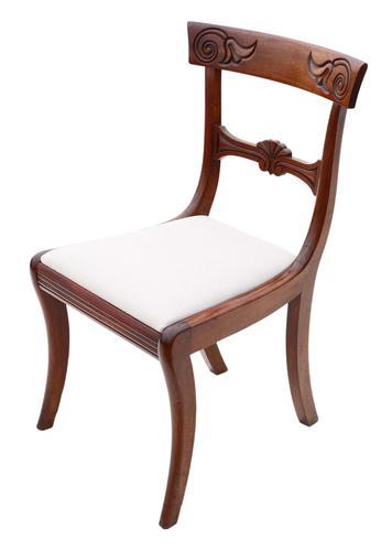 Regency Cuban Mahogany Dining Chair 19th Century C1825 (1 of 6)