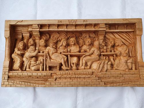 'Last Supper' High Relief Carving in Lime Wood, by Scottish Sculptor Alan Lees (1 of 9)