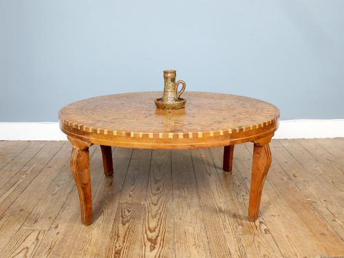1950s Moroccan Marquetry Tea Table (1 of 6)