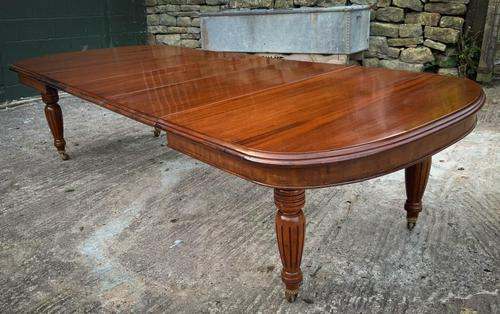 Victorian 3 Leaf Extending Dining Table Seats 10 (1 of 13)