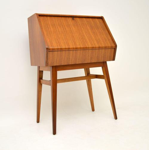 1950's Vintage Walnut Writing Bureau (1 of 8)