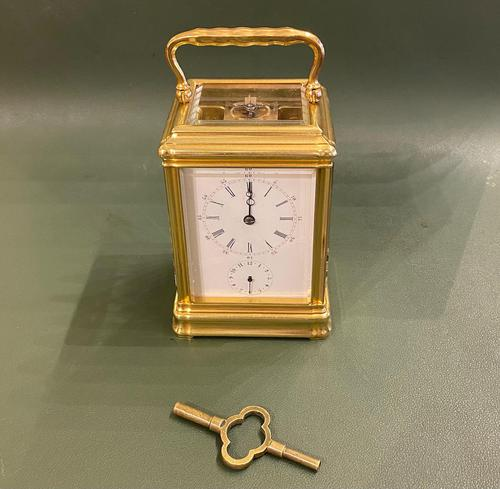 Good Late 19th Century French Carriage Clock with Alarum by the Famous Maker Alfred Drocourt (1 of 5)
