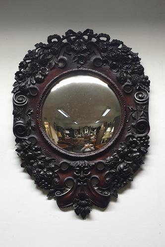 Outstanding Italian Mahogany Wall Mirror (1 of 9)