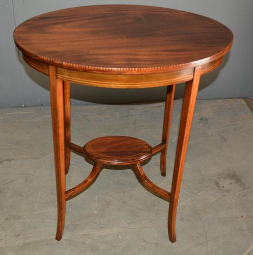 Edwardian Inlaid Mahogany Occasional Lamp Table (1 of 1)