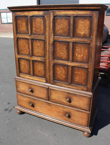 1940s Oak Linen Press with Slides & Drawers (1 of 5)