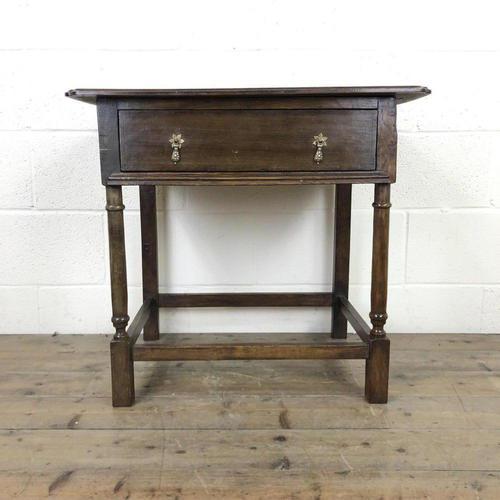 Antique Oak Side Table(m-2250) (1 of 9)