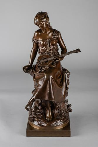 Stunning 19th Century French Bronze Sculpture by Auguste Moreau (1 of 10)