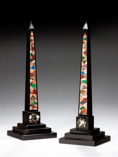 Pair of 19th Century Large Ashbourne Obelisks (1 of 1)