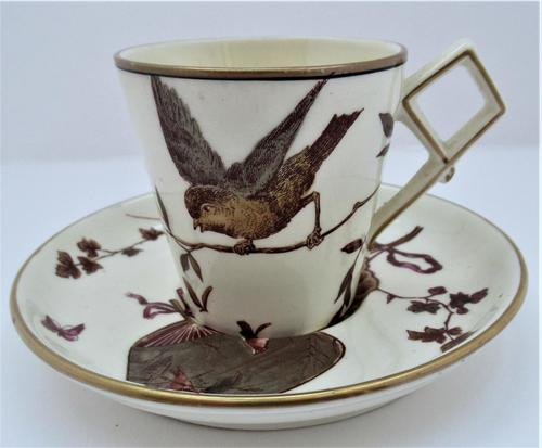 Powell, Bishop & Stonier Aesthetic period coffee cup and saucer, 1880 (1 of 8)