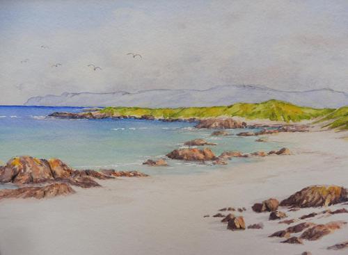 Watercolour White Strand Iona Artist Joyce Dalgety (1 of 10)