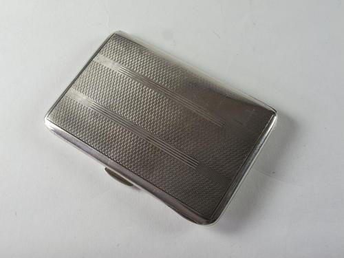 Art Deco Sterling Silver Ladies Cigarette Case (1 of 4)