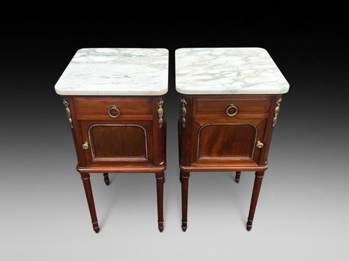 Marble Top Bedside Cabinets (1 of 5)