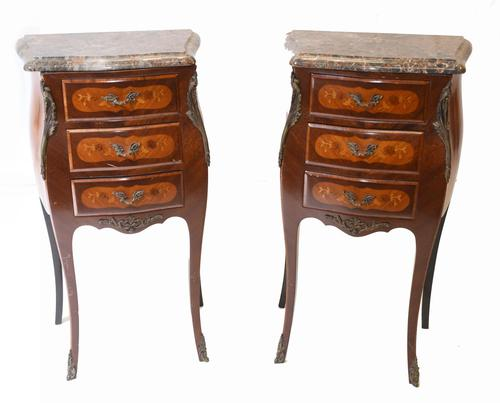 Pair of French Bedside Chests Antique Empire Nightstands (1 of 11)
