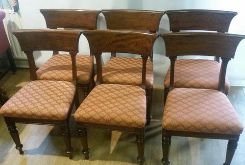 Set 6 George III Mahogany Trafalgar Chairs (1 of 6)