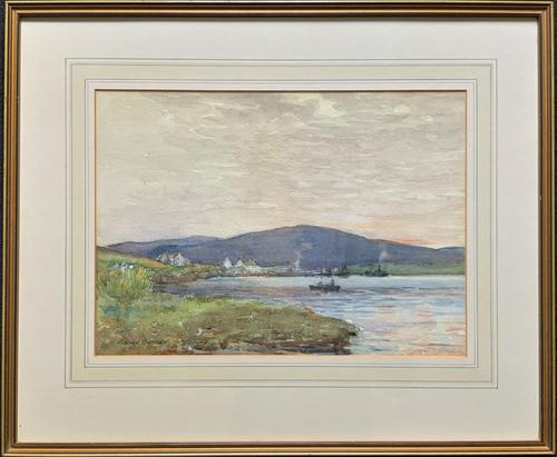Andrew Gamley RSW - A Lochside Village Watercolour Painting (1 of 12)