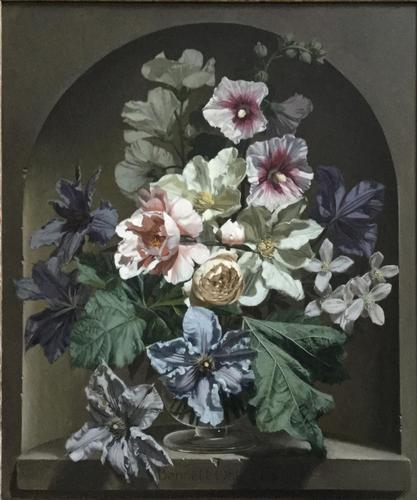 Bennett Oates Oil Painting ' flowers in an alcove' (1 of 4)