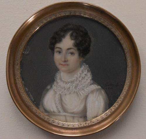 "Portrait Miniature French School ""Galley 1819"" (1 of 4)"